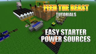 Feed The Beast :: Best Starter Power Sources!