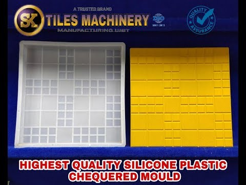 Chequered Silicone Plastic Moulds