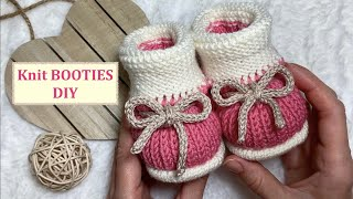 Knitting Baby Booties | DIY | Knit BOOTIES | How to knit baby booties