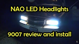 NAO 9007 Led Headlight Review and Install   Lincoln Town Car