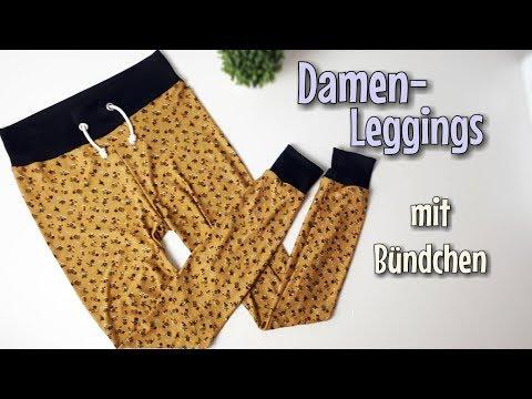 Damen Leggings - Nähanleitung OHNE Schnittmuster - Für Anfänger - Nähtinchen