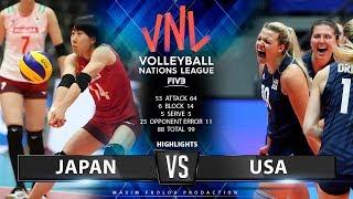 Japan vs. USA | Highlights | Women's VNL 2019