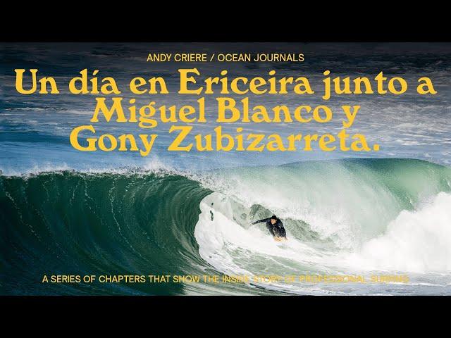 Andy Criere junto a Gony y Miguel Angel Blanco en Ericeira
