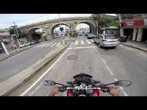 Chegando em Barbacena MG, a bordo da Honda XRE300 vermelha