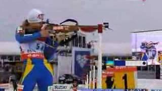 Biathlon. World best shooter - Oksana Khvostenko