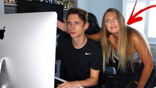 IGNORING my LITTLE SISTER for 24 HOURS!! *Gone Too Far* 24 hour PRANK