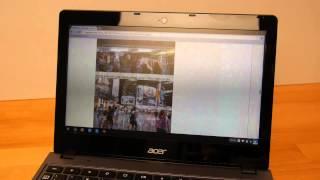 Acer「ChromebookC720」でGIGAZINEをサクサク・ぬるぬる閲覧する様子