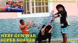 NERF GUN GAME | SUPER SOAKER EDITION  EP.1 Star Wars (Family The Honest Comedy)