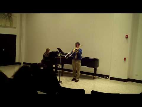 Live Performance of Sonatina for Trombone and Piano by Kazimierz Serocki, November 2017