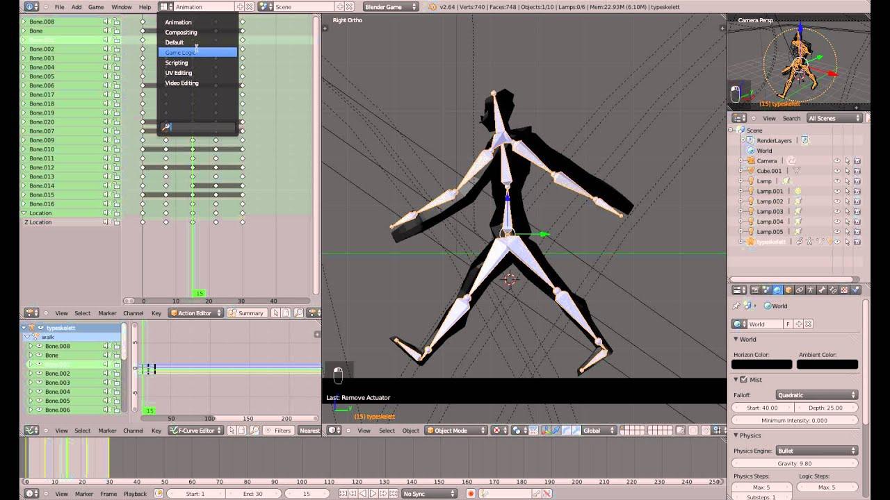 Sounds nach Frame - Blender 3D Game Engine Tutorial