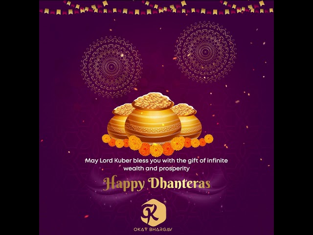 #3 Dhanteras  free after effects templates - after effects - Okay Bhargav