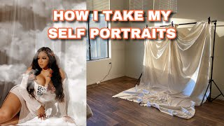 HOW I TAKE MY SELF PORTRAITS ON iPhone 11 (VLOG) | Yellow Jade