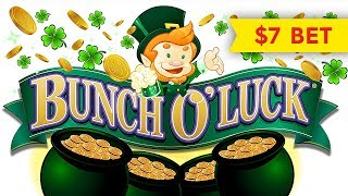 HEART STOPPING! Bunch O'Luck Slot - $7 Max Bet!