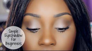 Quick Eyeshadow for Makeup Beginners using Benefit Cosmetics Roller Lash Mascara!