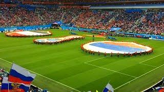 Стадион поёт гимн России. Матч Россия - Египет. 19.06.2018.