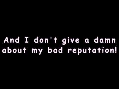 Bad Reputation (Lyrics) - Avril Lavigne