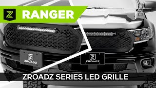 "ZROADZ (Z315821): Grille Replacement with 20"" LED Bar for '19-'21 Ford Ranger"