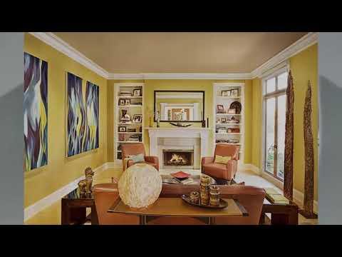 Wohnzimmer gelbe Farbe ideen | Haus Ideen