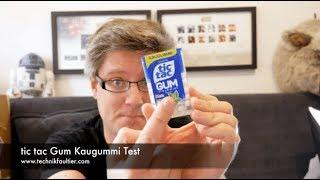 tic tac Gum Kaugummi Test