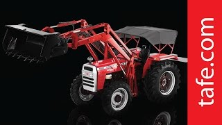 The BigRedMachine The MasseyFerguson 9500 SuperShuttle Series tractor is a power