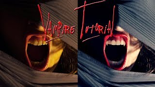 How To Retouch Teeth And Make Vampire Fangs Adobe Photoshop Tutorials CC Creative Cloud Photography