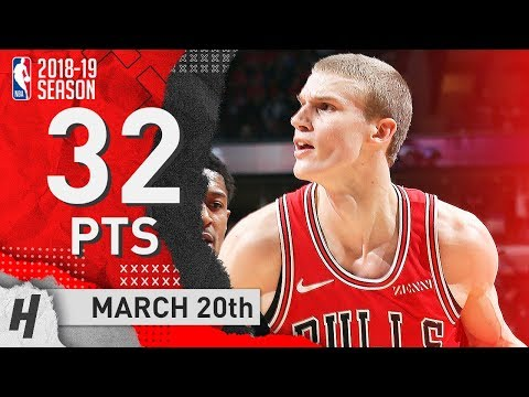 Lauri Markkanen Full Highlights Bulls vs Wizards 2019.03.20 - 32 Points, 13 Reb, CLUTCH!
