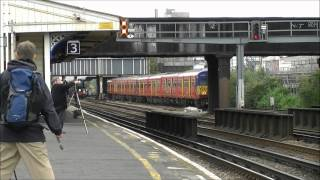 preview picture of video '35028 'Clan Line' & The Cathedrals Express, Queenstown Road (Battersea), 09/07/12.'