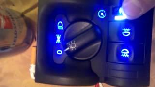 Opel Vauxhall Vectra B Lichtschalter - Light Switch LED Blue/white, Chevrolet Holden I500