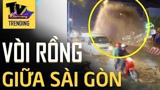 Vòi rồng NƯỚC CỐNG phun thẳng lên trời giữa đường phố Sài Gòn người dân liều mình tránh vượt