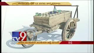Telugu artist Gundu Anjaneyulu's work impresses Sonia Gandhi
