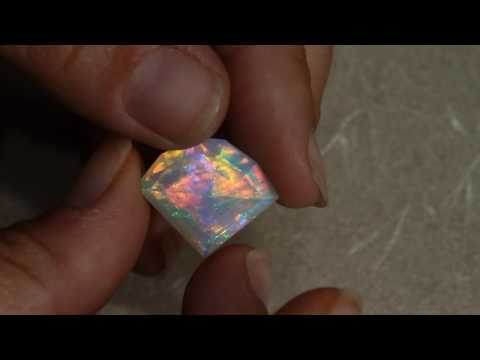 Faceted Ethiopian Opal Weighs 14.70 Carats