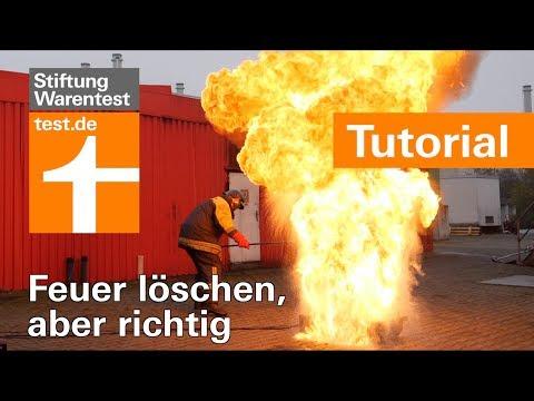 Feuerlöscher-Test: Fettbrand, Kabelbrand & Vorhang richtig löschen