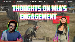 thoughts on mia's engagement   carryislive   pubg mobile highlights