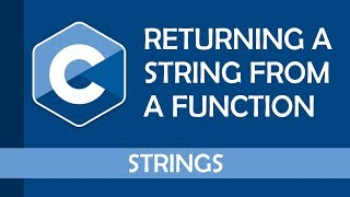 How to return a string from a function