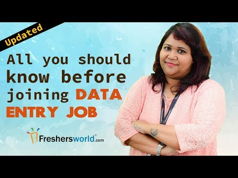 All you should know before joining a Data Entry Job - Entry Level ...