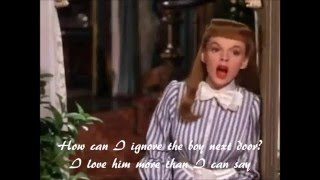 The Boy Next Door by Judy Garland with lyrics on screen