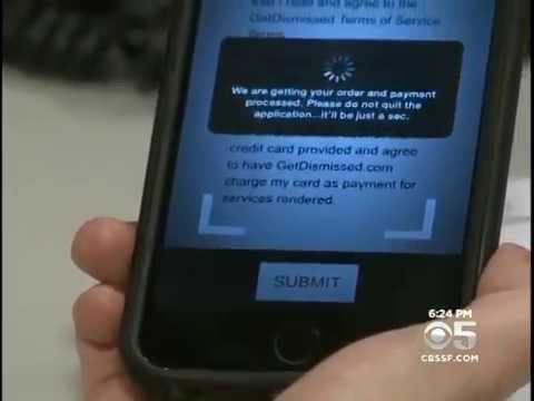 The GetDismissed Mobile App Is Put To The Test on KPIX CBS 5 San Francisco July 21, 2015