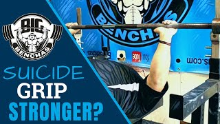 Is The Suicide Grip (False, Thumbless Grip) STRONGER for the Bench Press?