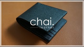 ENG_SUB/classic But Modern Style Leather Wallet/클래식, 모던한 가죽 반지갑_making Video_leather Craft/가죽공예