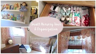 SMALL NURSERY TOUR + ORGANIZATION 👶🏻 Before + After!