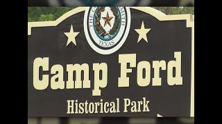 Camp Ford.  Tyler, Texas  (no more slavery)