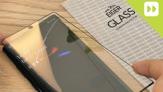 Eiger Samsung Galaxy Note 10 Plus 3D Glass Screen Protector Installation & Review
