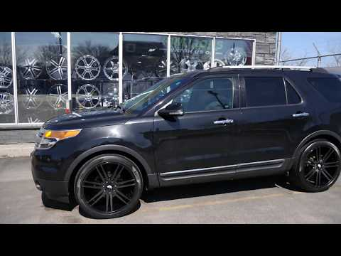 2011 FORD EXPLORER WITH 22 INCH CUSTOM RIMS & TIRES