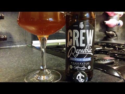 (4K) Crew Republic Drunken Sailor IPA | German Craft Beer Review
