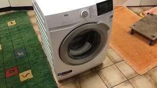 Eine neue Waschmaschine aufbauen und anschließen