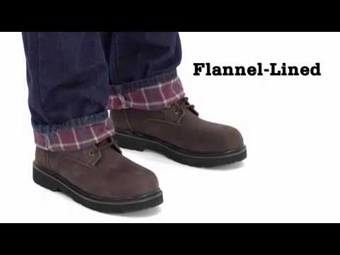 Men's Relaxed Fit Straight Leg Flannel Lined Jeans video thumbnail