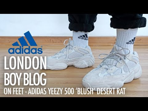 bbbe3210121af ADIDAS YEEZY 500 DESERT RAT BLUSH REVIEW AND ON FOOT !!! - смотреть ...