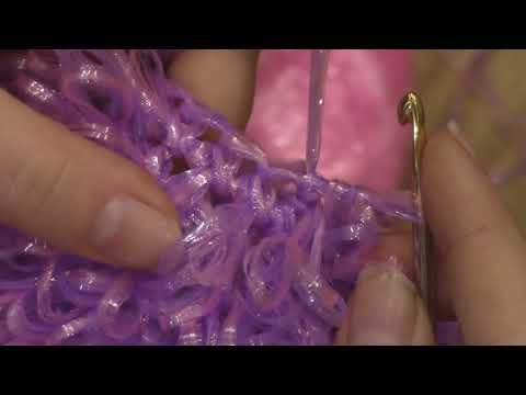 Мастер класс:Мочалка крючком\Как связать мочалку крючком с вытянутыми петлями.
