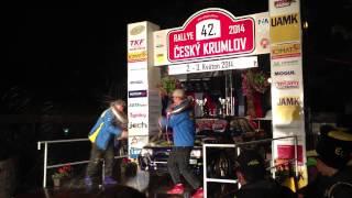preview picture of video 'Vyhlášení vítězů MČRHA 42. Rallye Český Krumlov 2014 Kalista - Šofr'