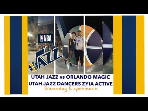 Utah Jazz vs Orlando Magic NBA Basketball Gameday   Utah Jazz Dancers Zyia Active